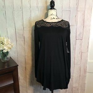 4/$25 NWT Old Navy   L   Long Slv Lace & Knit Top